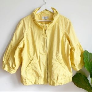 Conrad C Collection Cotton Yellow Jacket Size 16